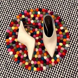 Joie Alinie Lambskin Pointed Mule Stiletto Heel